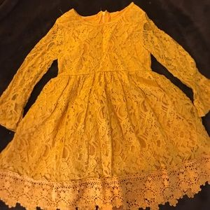 Other - Lace Mustard Dress
